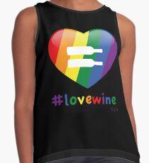 #lovewine (black shadow) Contrast Tank