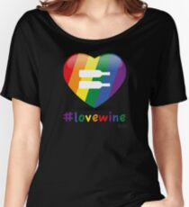 #lovewine (black shadow) Women's Relaxed Fit T-Shirt