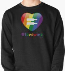 #lovewine (black shadow) Pullover Sweatshirt