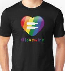 #lovewine (black shadow) Slim Fit T-Shirt