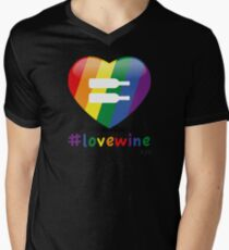 #lovewine (black shadow) Men's V-Neck T-Shirt
