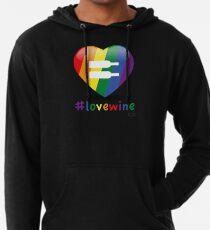 #lovewine (black shadow) Lightweight Hoodie
