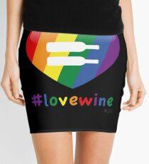 #lovewine (black shadow) Mini Skirt