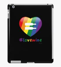 #lovewine (black shadow) iPad Case/Skin