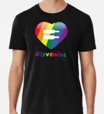 #lovewine (black shadow) Men's Premium T-Shirt