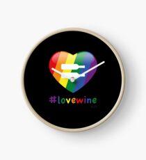#lovewine (black shadow) Clock