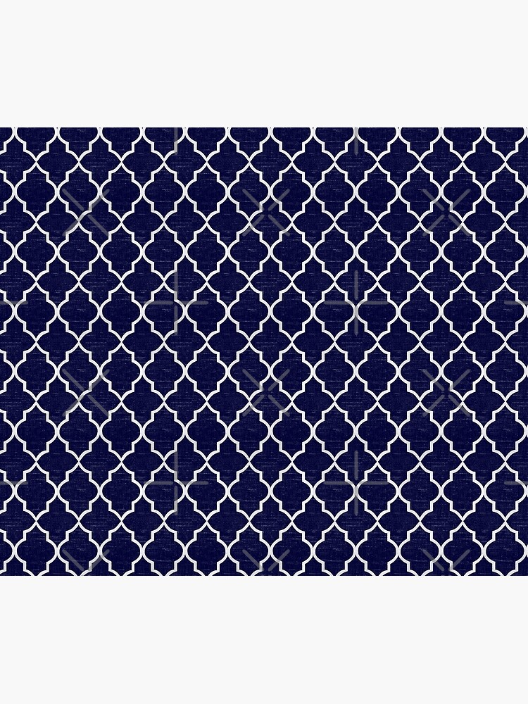 Midnight Blue Quatrefoil by coverinlove