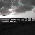 Soccer at Sunset by Storm Designs