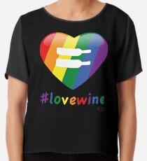 #lovewine (black shadow) Chiffon Top