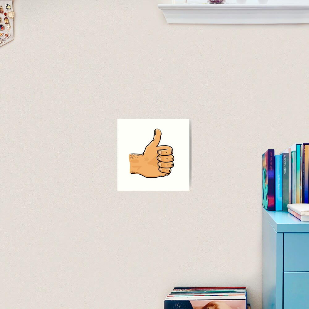 Thumbs Up Mate Art Print