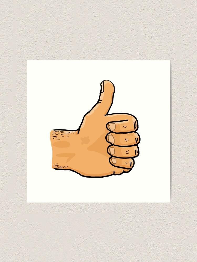 Alternate view of Thumbs Up Mate Art Print