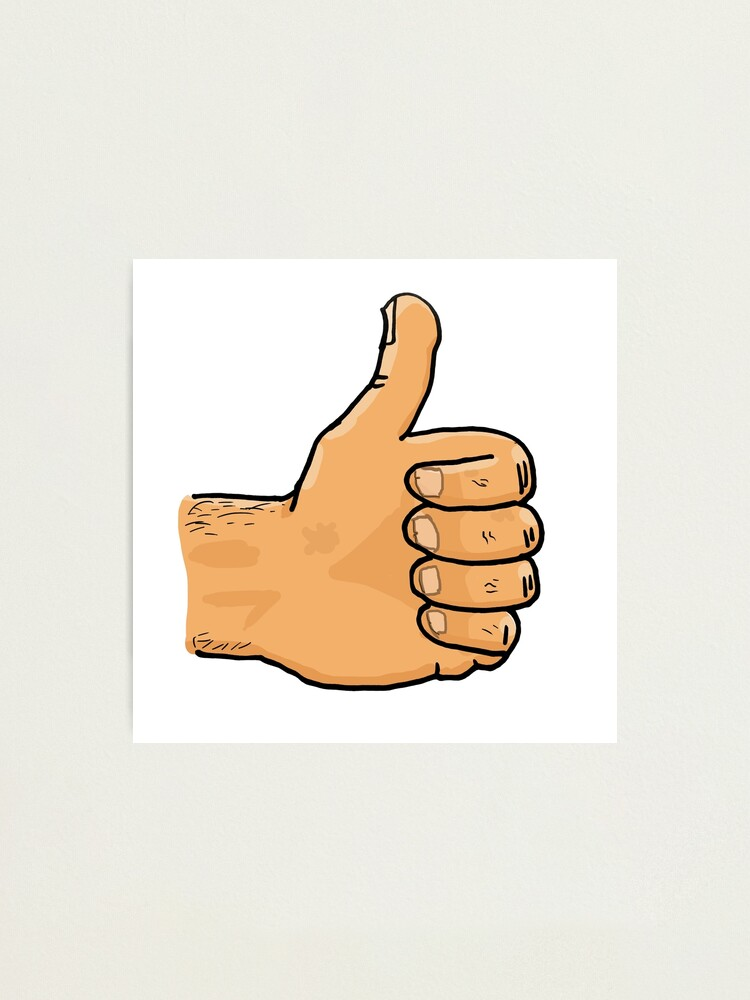 Alternate view of Thumbs Up Mate Photographic Print