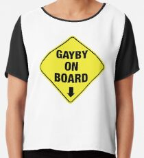 GAYBY ON BOARD clothing Chiffon Top