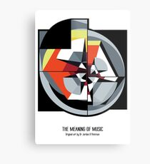 The Meaning of Music (white) Metal Print