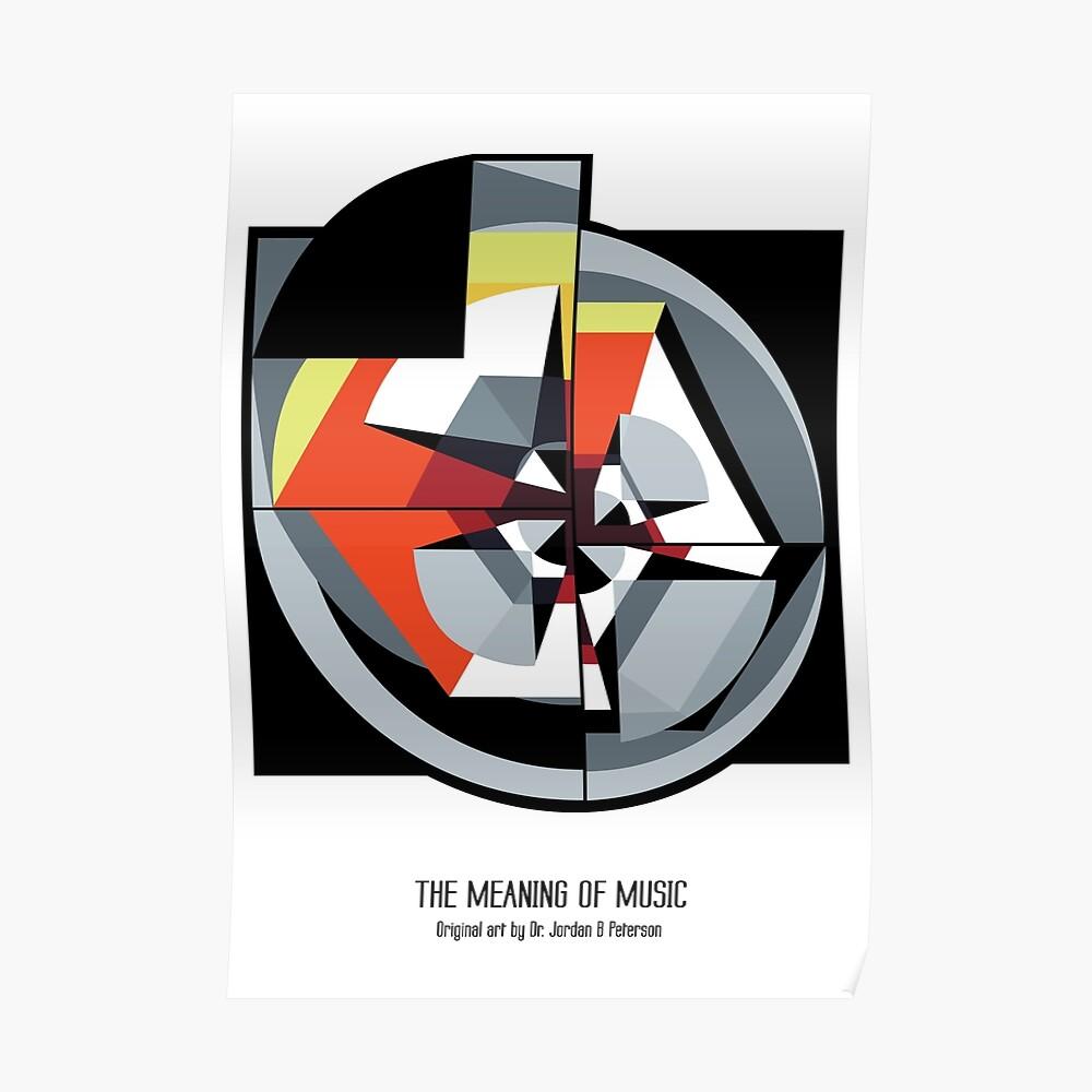 Die Bedeutung von Musik (weiß) Poster