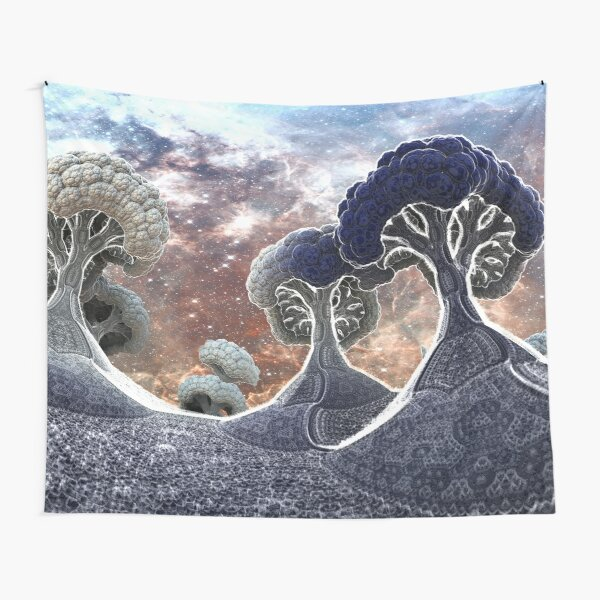 Broccoli Planet in Winter Tapestry