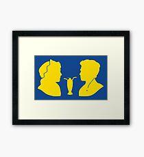 Milkshake Silhouette (J+A   Yellow) Framed Print
