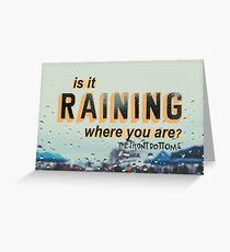 raining Greeting Card