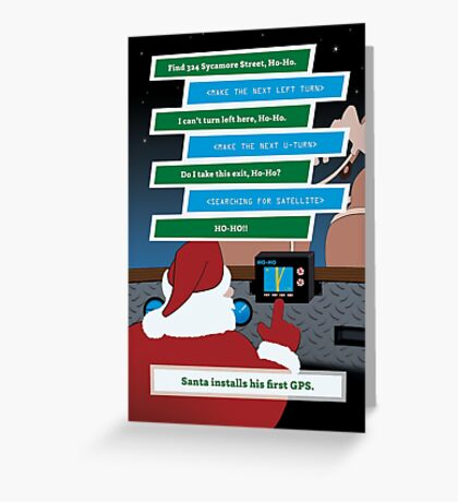 Santa Installs a GPS Greeting Card