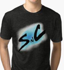 SnC Logo - Blue Tri-blend T-Shirt