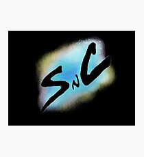 SnC Logo - Blue Photographic Print