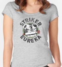 Distressed Striker Eureka Logo Women's Fitted Scoop T-Shirt