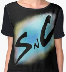 SnC Logo - Blue Chiffon Top