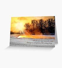 Winter Solstice Sun on Winter Landscape Greeting Card