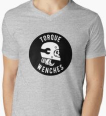 Small Torque Wenches Circle Logo Men's V-Neck T-Shirt