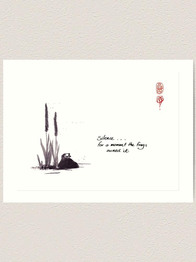 Alternate view of silence Art Print