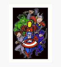 Mighty Heroes Art Print