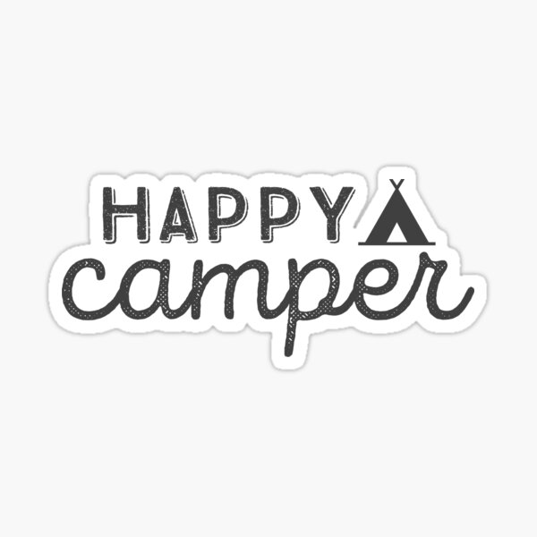 happy camper Glossy Sticker