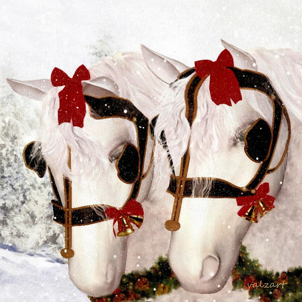 Snowflake and Holly by Valerie Anne Kelly