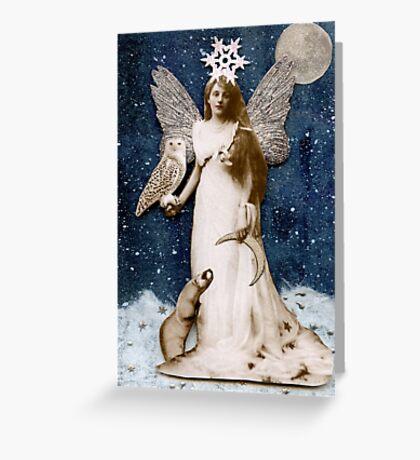 Zorya of the Crescent Moon Greeting Card