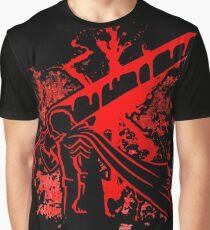 Berserk  Guts Logo Blood Graphic T-Shirt