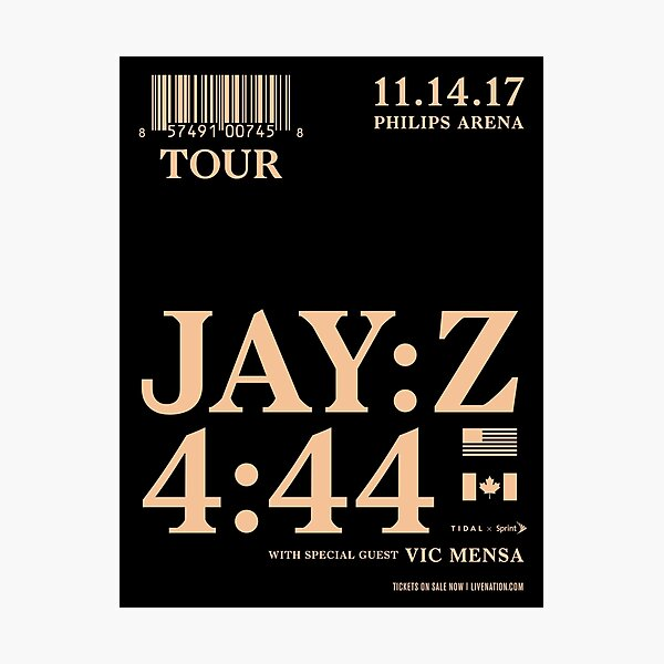 Jay Z 4:44 Tour Poster Photographic Print