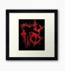 Berserk Guts Blood Logo Framed Print