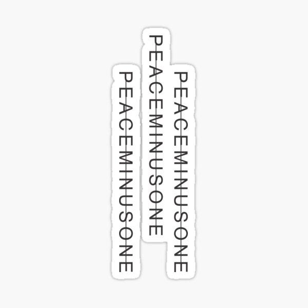 PeaceMinusOne 3 Lines Sticker