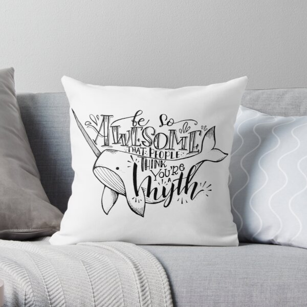 Narwhals Are Real Throw Pillow