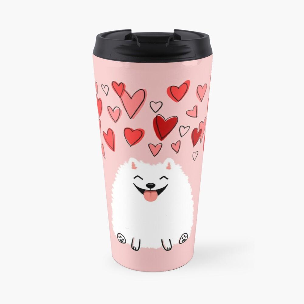 Pomeranian Valentine Travel Mug