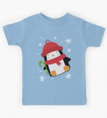 Holiday Penguin Kids Tee