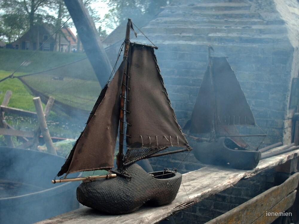 Dutch... Sailing Ship - Klomp met een zeiltje by ienemien