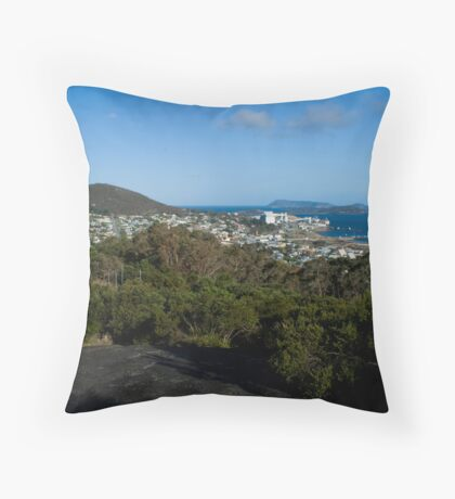 Albany from Mt Melville lookout Throw Pillow