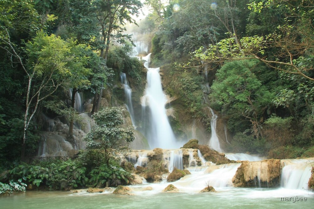 Kuang Si waterfall by marybee