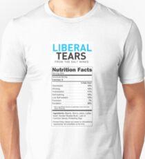 Liberal/Democrat Tears Funny Joke Supplement Facts - Online Store Unisex T-Shirt