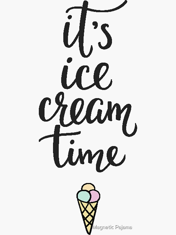 It's Ice Cream Time // Ice Cream Cone by MagneticMama