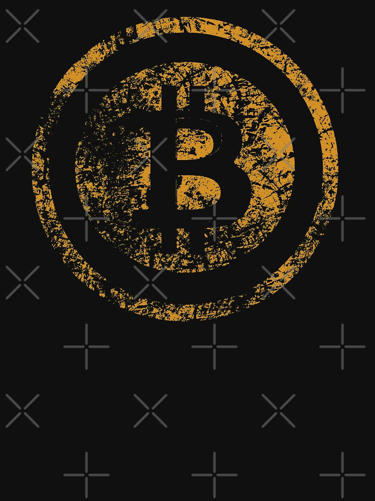 Vintage Bitcoin Logo Grunge Tshirt  by KhushbooLohia