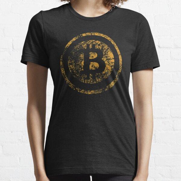 Vintage Bitcoin Logo Grunge Tshirt  Essential T-Shirt