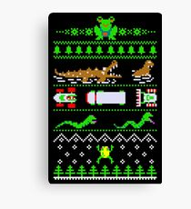 Christmas Frogger Canvas Print