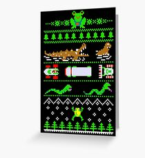 Christmas Frogger Greeting Card